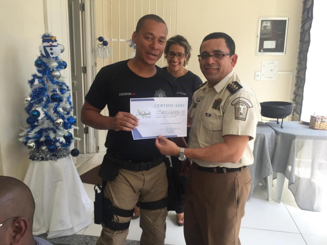 Guardas Municiais são homenageados pelo Instituto Mudando o Final com presença do Diretor de Operações Alex Pinheiro