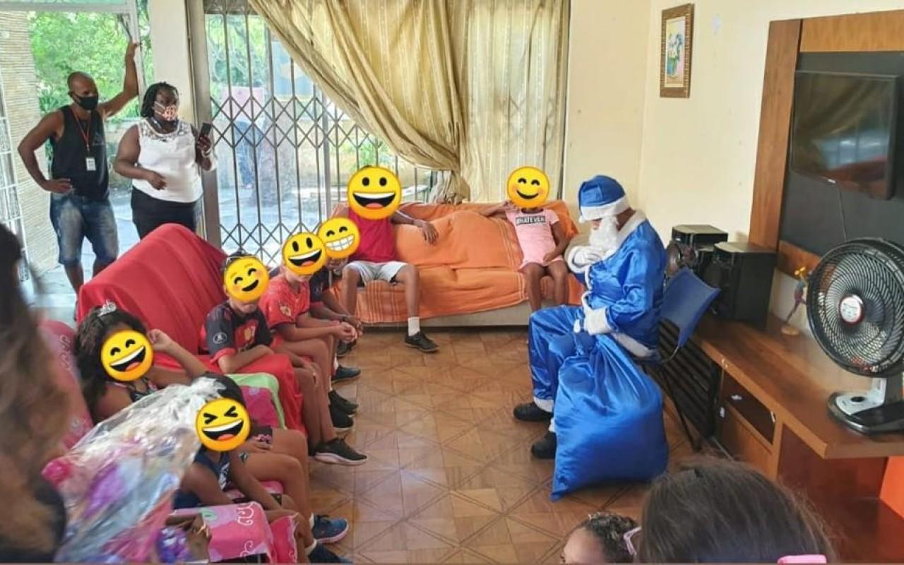 Natal Azul nas unidades de Reinserção Social