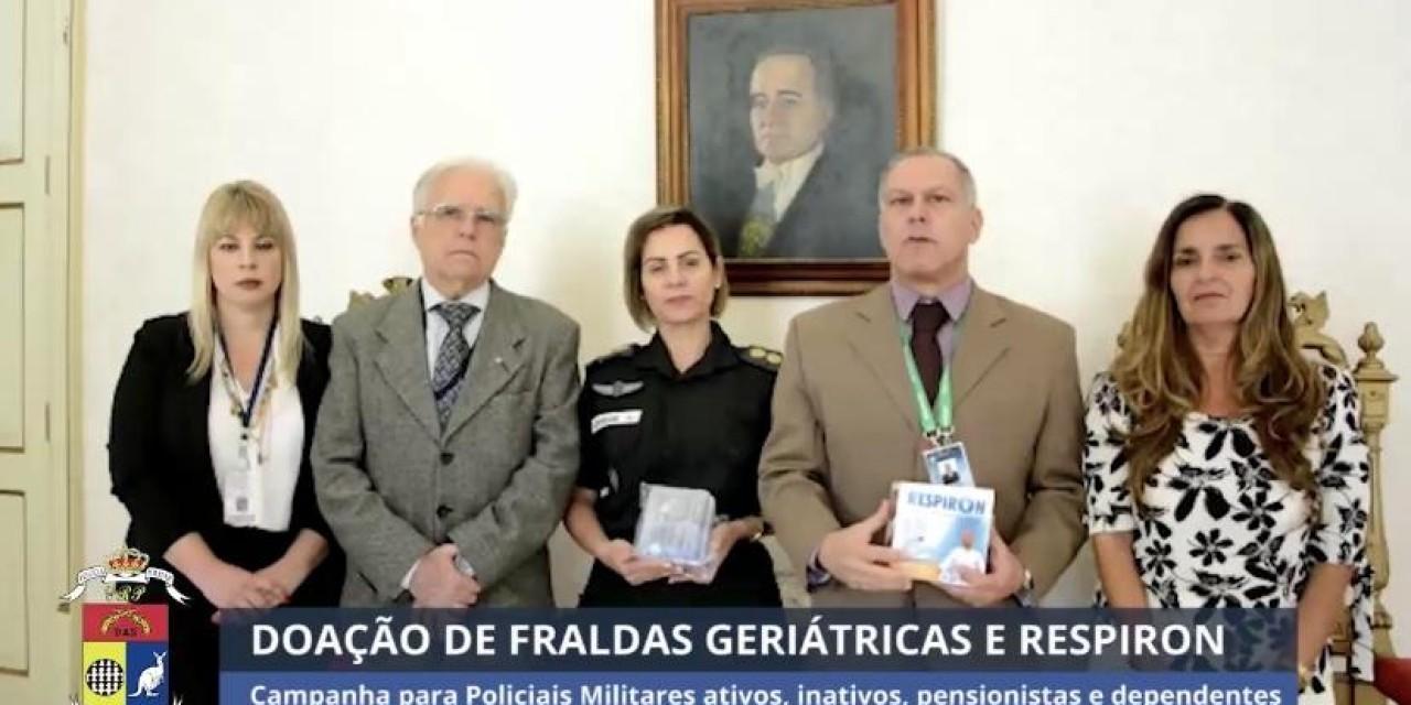 Campanha para arrecadação de fraldas geriátricas e respiron
